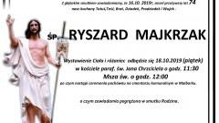 Zmarł Ryszard Majkrzak. Żył 74 lata