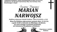 Zmarł Marian Narwojsz. Żył 58 lat
