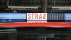 Pożar kotłowni w Junoszynie - raport nowodworskich służb mundurowych.