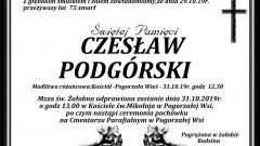 Zamarł Czesław Podgórski. Żył 75 lat.