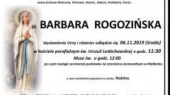 Zmarła Barbara Rogozińska. Żyła 78 lat
