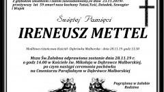 Zmarł Ireneusz Mettel. Żył 59 lat.