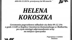 Zmarła Helena Kokoszka. Żyła 88 lat.