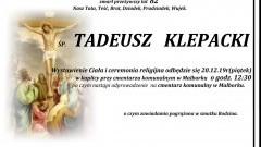 Zmarł Tadeusz Klepacki. Żył 82 lata.
