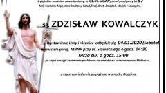Zmarł Zdzisław Kowalczyk. Żył 57 lat.
