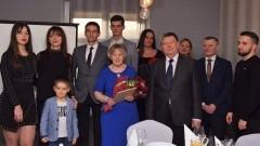 Państwo Jadwiga i Eugeniusz Charlińscy świętują Złote Gody