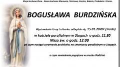 Zmarła Bogusława Burdzińska. Żyła 67 lat.