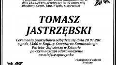 Zmarł Tomasz Jastrzębski. Żył 42 lata.