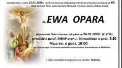 Zmarła Ewa Opara. Żyła 62 lata.