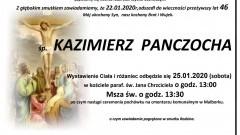 Zmarł Kazimierz Panczocha. Żył 46 lat.