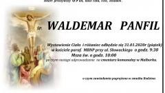 Zmarł Waldemar Panfil. Żył 69 lat.