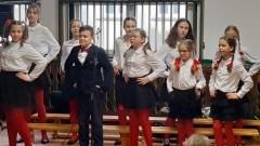 Zespół Fantazja z SP2 w Malborku wystąpił przed publicznością w Uśnicach.