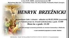 Zmarł Henryk Brzeźnicki. Żył 68 lat.