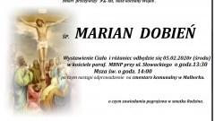 Zmarł Marian Dobień. Żył 92 lata.
