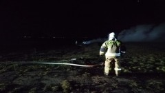 Pożar części samochodowych w Staryni.
