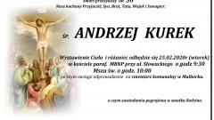 Zmarł Andrzej Kurek. Żył 56 lat.