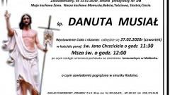 Zmarła Danuta Musiał. Żyła 58 lat.