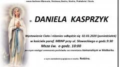 Zmarła Daniela Kasprzyk. Żyła 88 lat.