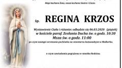 Zmarła Regina Krzos. Żyła 91 lat.