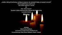 Wójt Gminy Malbork, pracownicy Urzędu Gminy Malbork oraz Przewodniczący Rady Gminy Malbork, Radni i Sołtysi składają kondolencje.