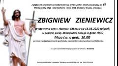 Zmarł Zbigniew Zieniewicz. Żył 69 lat.