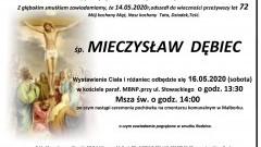 Zmarł Mieczysław Dębiec. Żył 72 lata.