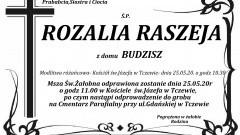 Zmarła Rozalia Raszeja. Żyła 90 lat.