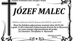 Zmarł Józef Malec. Żył 90 lat.