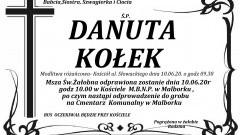 Zmarła Danuta Kołek. Żyła 70 lat.