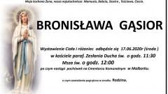 Zmarła Bronisława Gąsior. Żyła 81 lat.