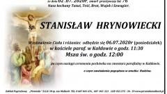 Zmarł Stanisław Hrynowiecki. Żył 76 lat.