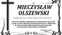 Zmarł Mieczysław Olszewski. Żył 69 lat.