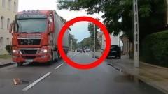 Wypadek na 500 – lecia w Malborku z udziałem motocyklisty. Zobacz wideo.