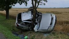 To cud, że kierowca z wypadku w Martągu wyszedł żywy.