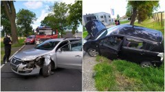 DK22. Kierowca w szpitalu po wypadku w Królewie.