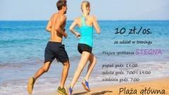 Trening Slow Jogging w ten weekend na plaży w Stegnie.