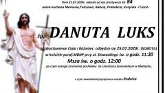 Zmarła Danuta Luks. Żyła 84 lata.