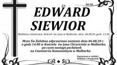 Zmarł Edward Siewior. Żył 66 lat.