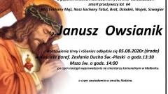 Zmarł Janusz Owsianik. Żył 64 lata.