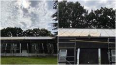 """Remont dachu Hali Sportowej """"Pilawa""""."""