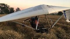 Motolotnia spadła na ziemię. Pilot trafił do szpitala.