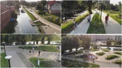 Bulwar wzdłuż rzeki Tugi w Nowym Dworze Gdańskim gotowy. Zobacz wideo i zdjęcia z drona.