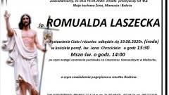 Zmarła Romualda Laszecka. Żyła 62 lata.