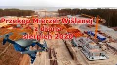 Przekop Mierzei Wiślanej. Najnowsze filmy i zdjęcia z drona - sierpień 2020