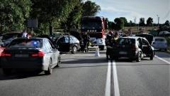 DK91. Jedna osoba w szpitalu po zderzeniu osobówek.