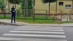 """Policyjne działania """"Bezpieczny pieszy"""" na terenie powiatu nowodworskiego."""