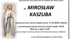 Zmarł Mirosław Kaszuba. Żył 65 lat.
