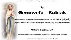 Zmarła Genowefa Kubiak. Żyła 96 lat.