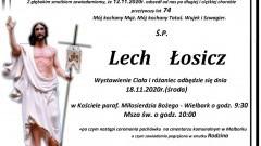 Zmarł Lech Łosicz. Żył 74 lata.