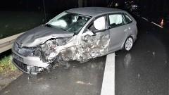 DK91. W wyniku czołowego zderzenia jedna osoba trafiła do szpitala.